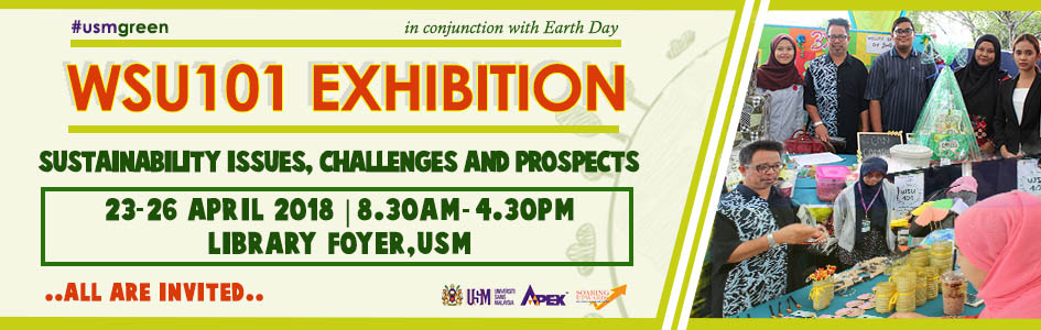 WSU101 Exhibition 2018 web banner in conjunction with earth day
